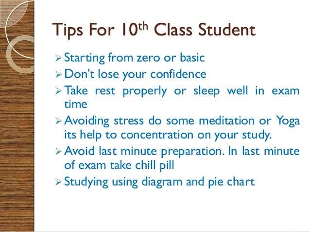 some exam tips
