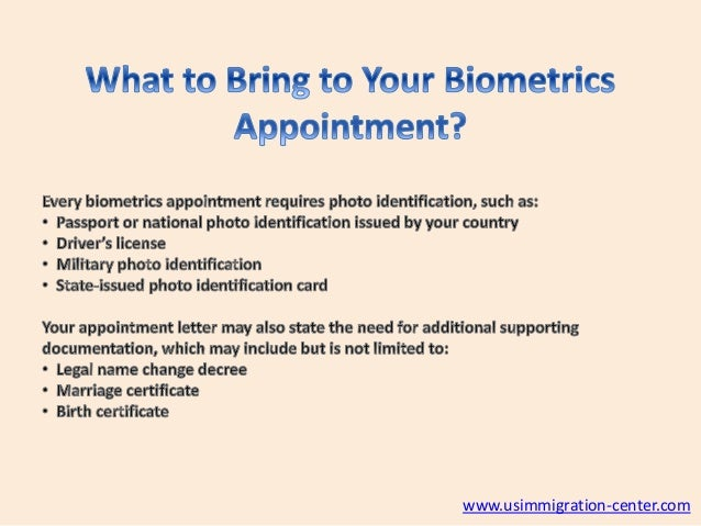 How To Prepare For a Biometrics Appointment