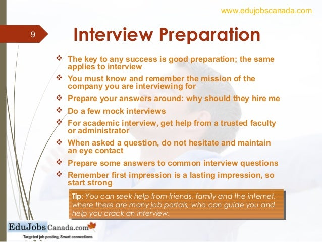 how to interview for a job