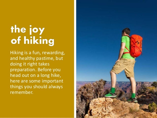 How to prepare for a long distance hiking trip Slide 2