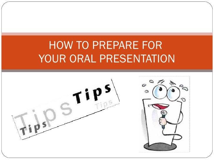 preparing an oral presentation