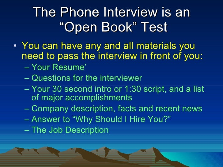 5 the phone interview - How To Prepare For A Phone Interview