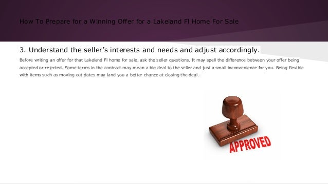 How to prepare for a winning offer for a lakeland fl home for sale Slide 3