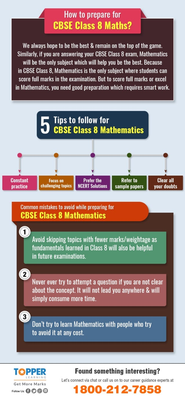 How to prepare for cbse class 8 maths