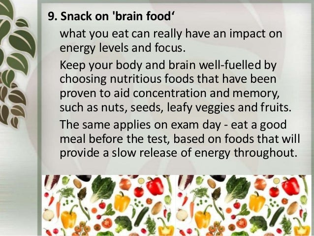 Best Foods For Brain Energy On Test Day