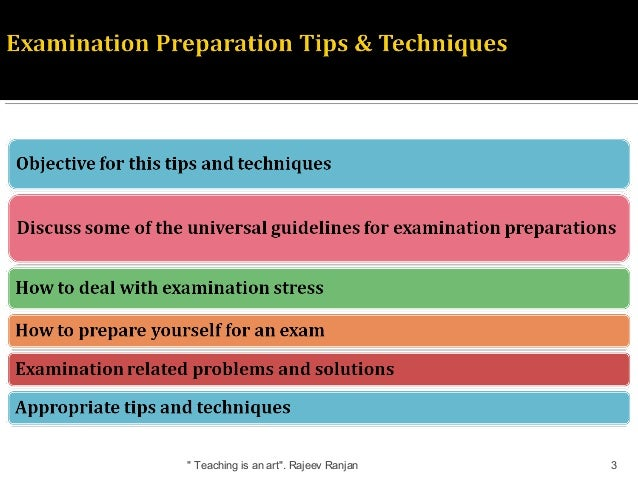 how to prepare for exam study tips techniques guide for students rh slideshare net