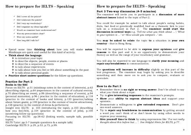 ielts how to prepare for speaking