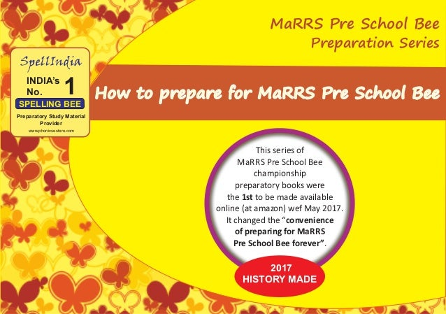 How to Prepare for MaRRS Pre School Bee - English, Maths & Science