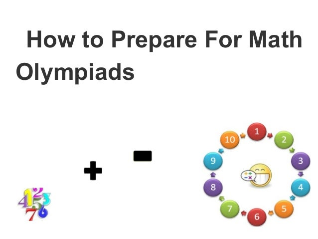 How to Prepare For MathOlympiads