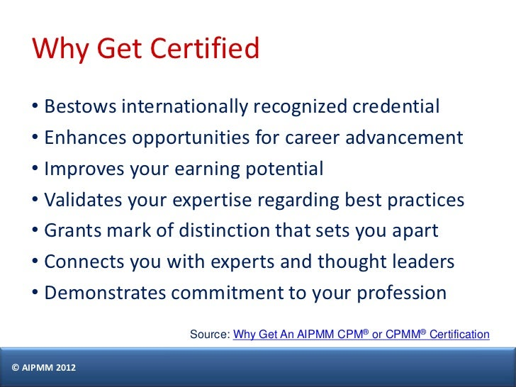 How To Prepare For The Aipmm Cpm Certification Exam H Del Castill