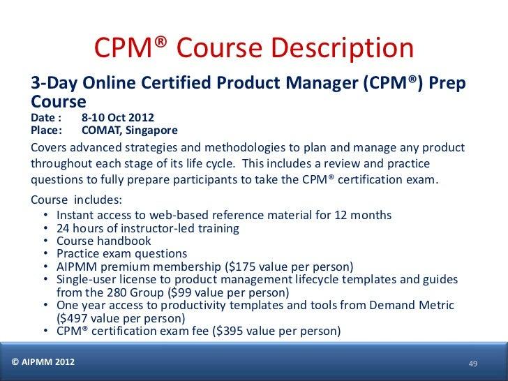 cpm certification aipmm exam prepare