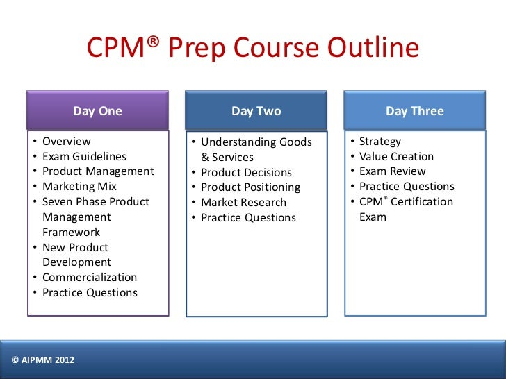 certification cpm management aipmm castillo singapore exam prepare