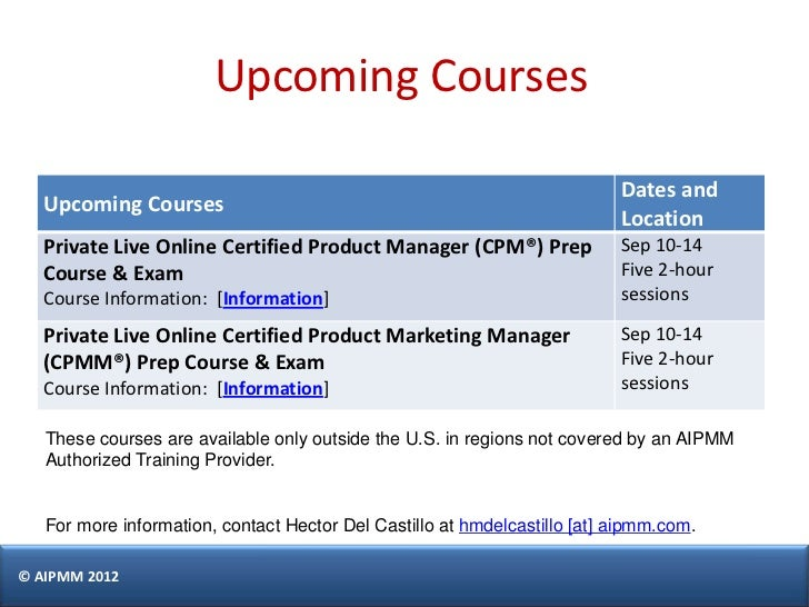 certification cpm aipmm castillo exam prepare singapore management