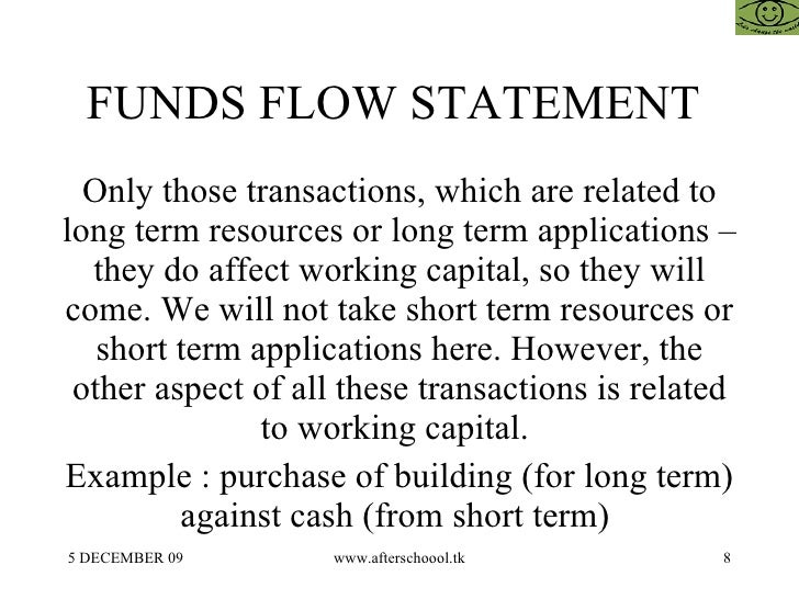 8 funds flow statement