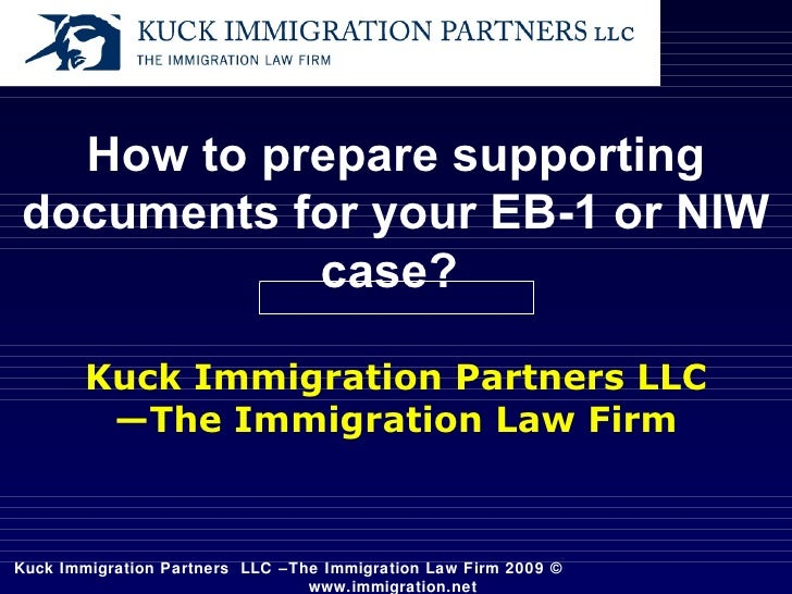 Documents in support of your EB-1A or NIW cases
