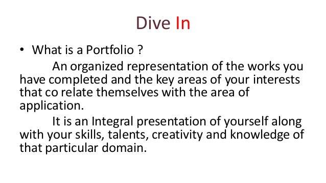 how to prepare a portfolio