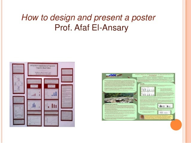 How to present a poster (1) Slide 2