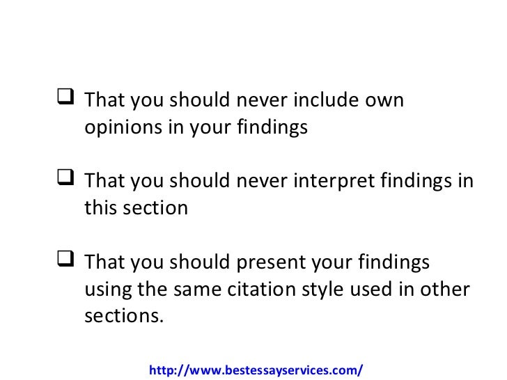 dissertation findings and results The dissertation advisor usually the results of your research study i find that my original research questions do not fit to the full the findings.
