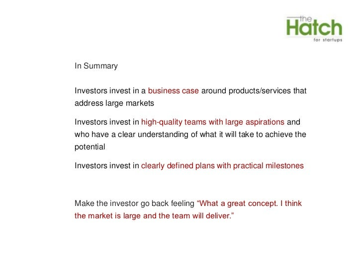 what type of business plans appeal to investors