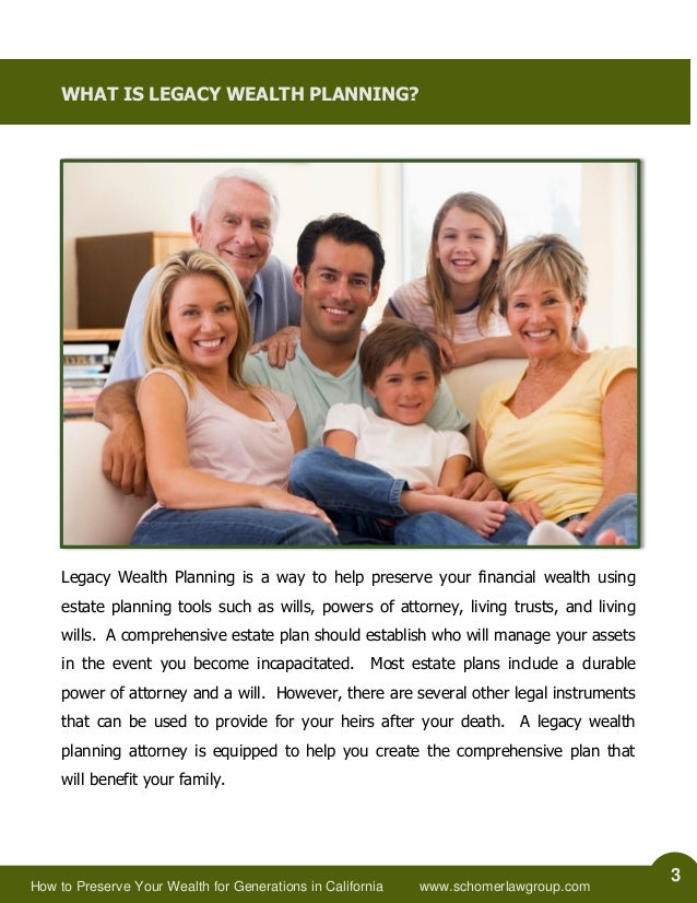 How to Preserve Your Wealth for Generations in California Slide 3