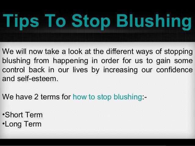 Tips to stop blushing