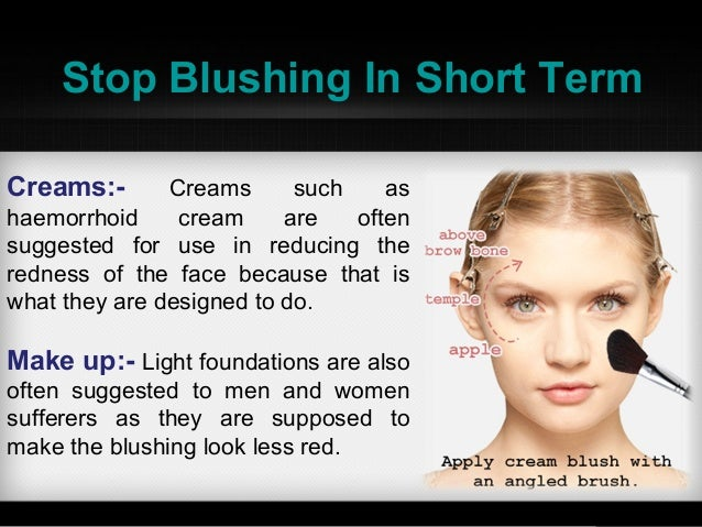 how to prevent blushing