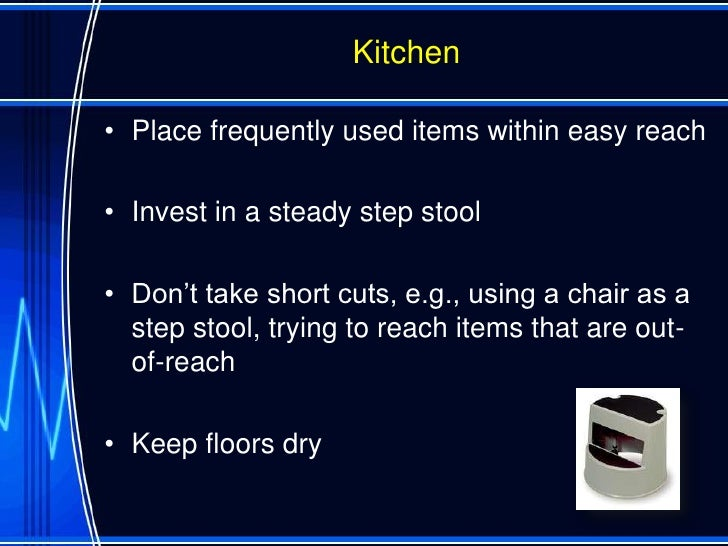 superb How To Prevent Falls In The Kitchen #4: How To Prevent Falls Ppt