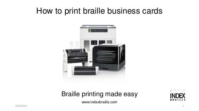 How to print braille business cards on everest d v4v5 29032017 how to print braille business cards 1 braille printing made easy reheart Images