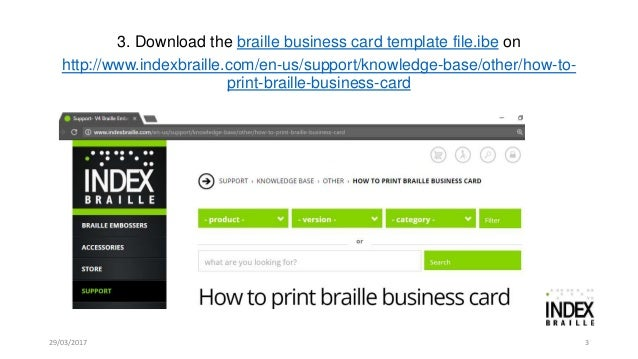How to print braille business cards on everest d v4v5 how to print braille business cards 3 reheart Images