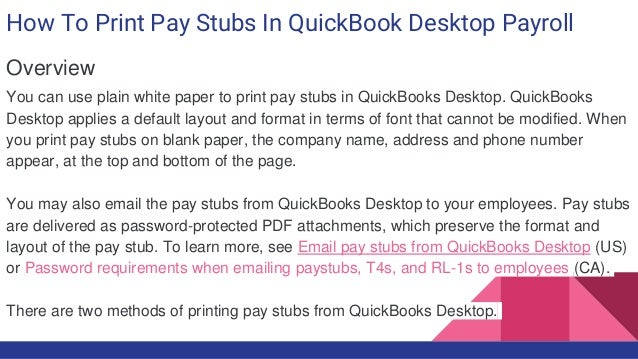 How to print pay stubs in quick book desktop payroll