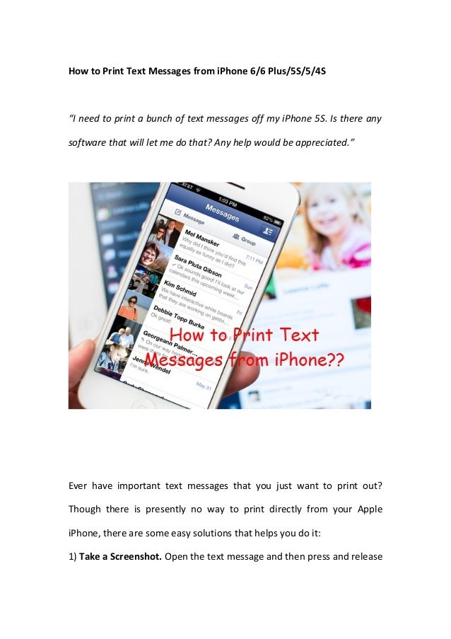 print text messages from iphone how to print text messages from iphone 6 6 plus 5s 5 4s 17928