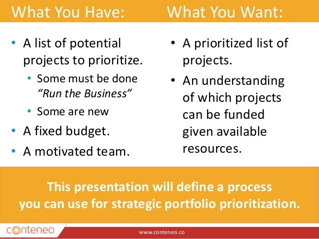 prioritizing project portfolio paper Free detailed reports on project portfolio management prioritizing pmos: using scoring white paper: find out how modern project management teams can align it.