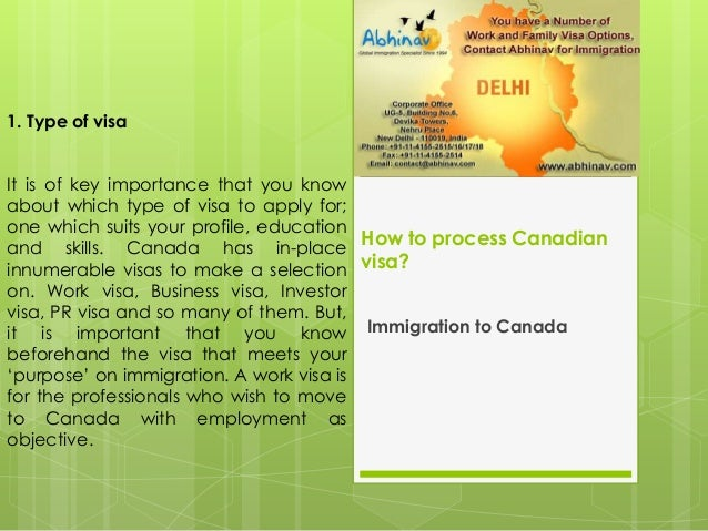 How to process canadian visa Slide 2