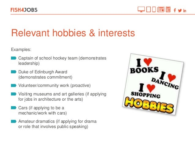 Cv Examples Interests. Cv Hobbies And Interests Sample Pictures To ...