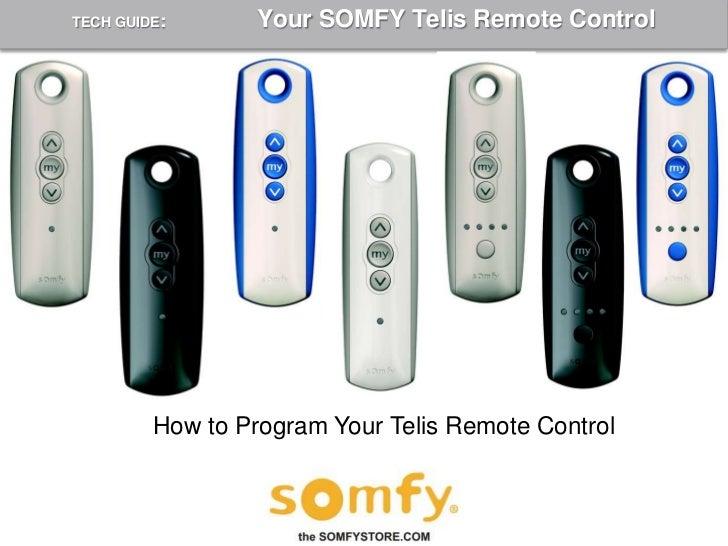somfy blinds remote instructions