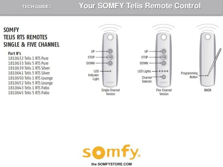 somfy remote programming instructions