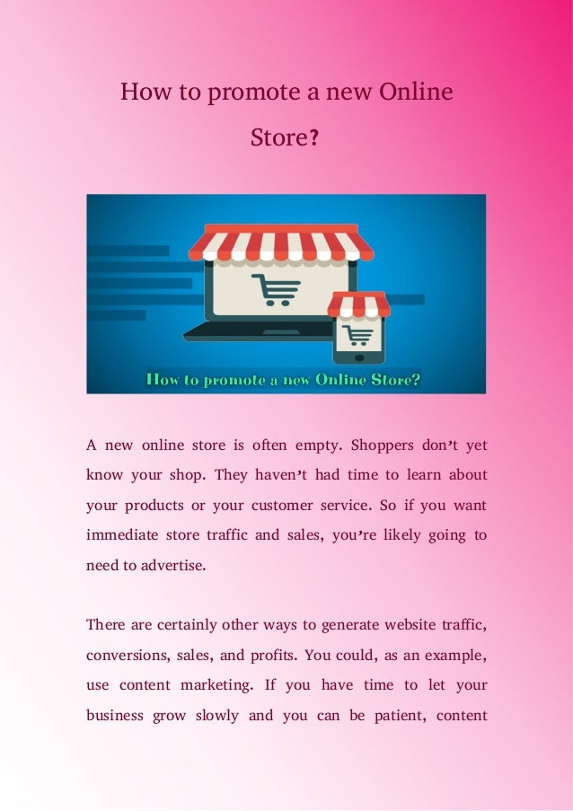 b18aaeb01c79 How to promote a new online store