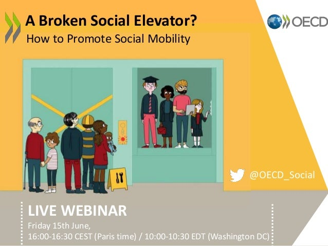 How to Promote Social Mobility A Broken Social Elevator? LIVE WEBINAR Friday 15th June, 16:00-16:30 CEST (Paris time) / 10...