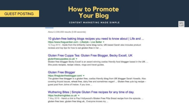 How to promote your blog Richard Etienne Presentation