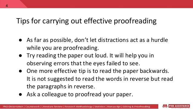 how to proofread a paper