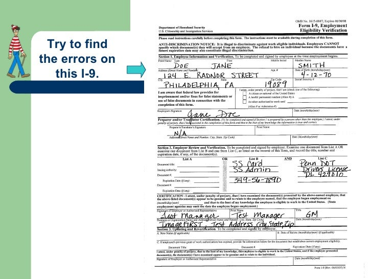 How To Properly Complete An I-9 Form