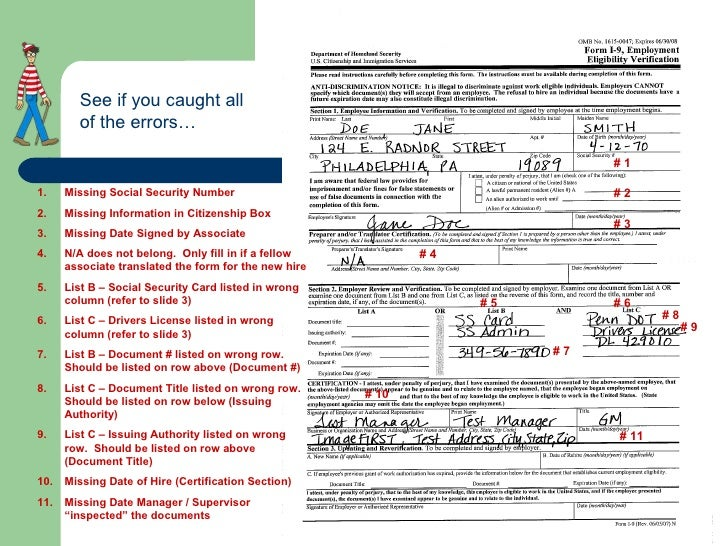 form i-9 social security number  How To Properly Complete An I-16 Form