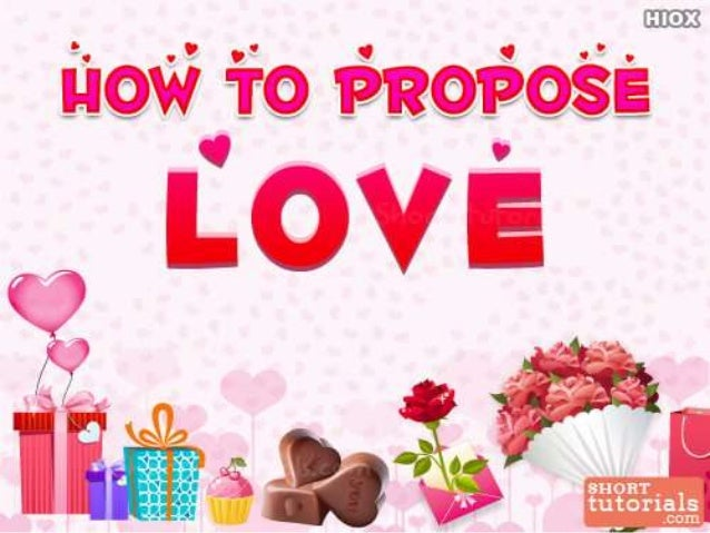 how to propose a girl on call