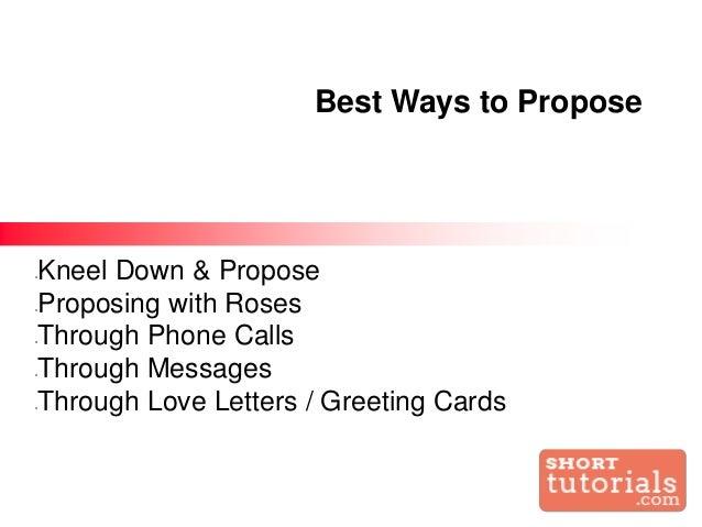 How to propose a girl through text