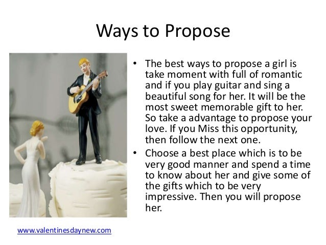 Romantic Words To Propose A Girl