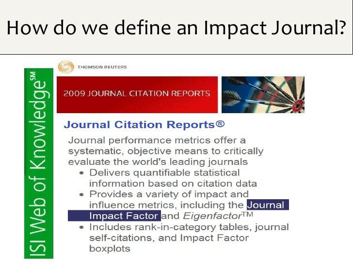 How do we define an Impact Journal?
