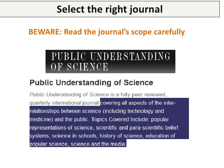 """Select the right journal  Because if you don't, this will be the answer you                     will receive""""Dear Mr Danie..."""