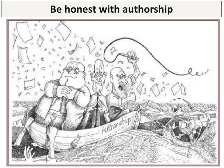 Be honest with authorship       BEWARE: The authors' position reflect their              contribution to the paper        ...