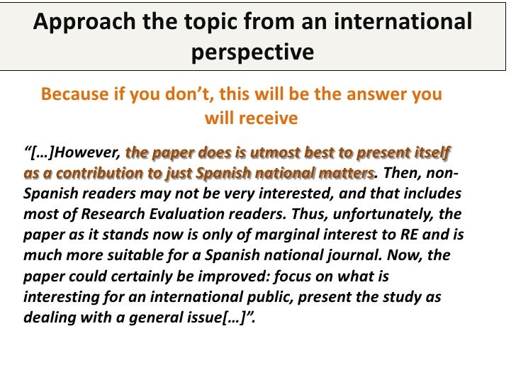 Respect authors' guidelines       Pay a special attention to the     journals' instructions for authors            • Abstr...