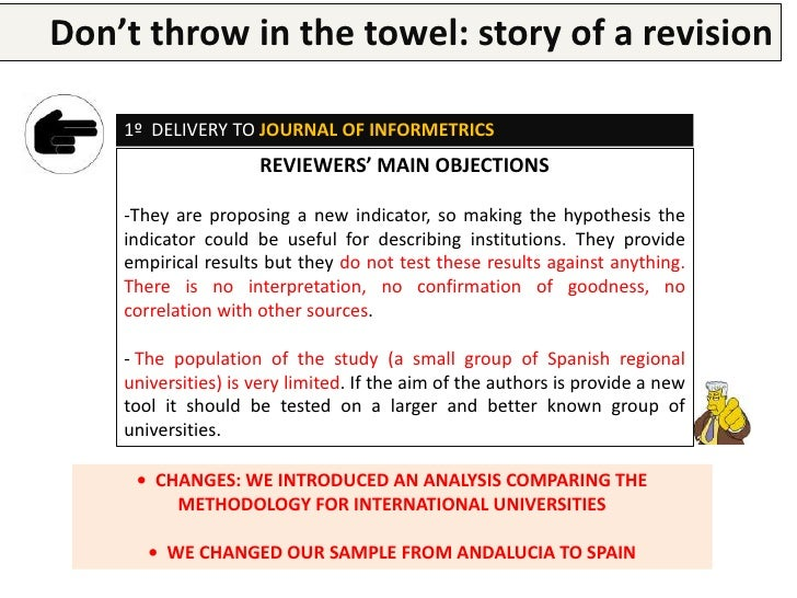 Don't throw in the research paper a revision        Writing a  towel: story of    2º DELIVERY AGAIN TO JOURNAL OF INFORMET...